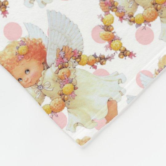 Baby Angel girl fleece blanket