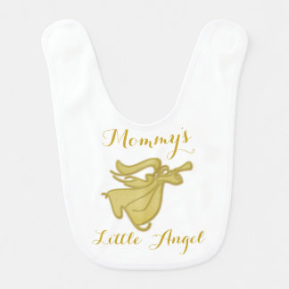 Baby angel gold christening baptism bib