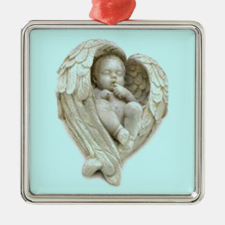 Baby angel wings products metal ornament