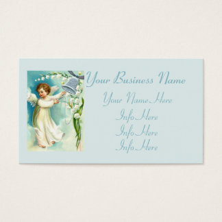 Baby Angel With Blue Bell Business Card