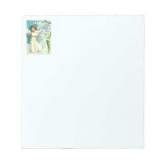 Baby Angel With Blue Bell Notepad