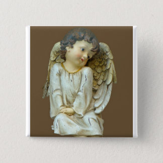 Baby Angel with wings 2 Inch Square Button