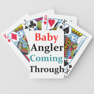 Baby Angler Coming Through Bicycle Playing Cards
