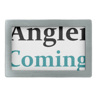 Baby Angler Coming Through Rectangular Belt Buckles