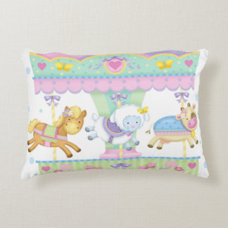 Baby Animal Carousel Accent Pillow