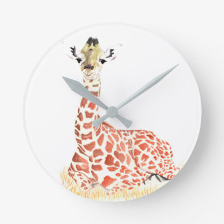 Baby animal wall clock