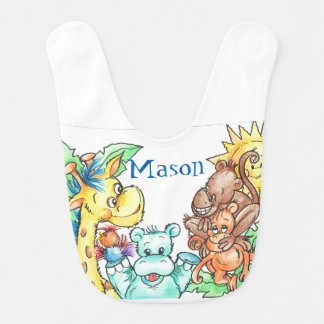Baby Animals Baby Bib