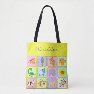 Baby Animals for the Baby-Yellow Baby Tote/Handbag Tote Bag