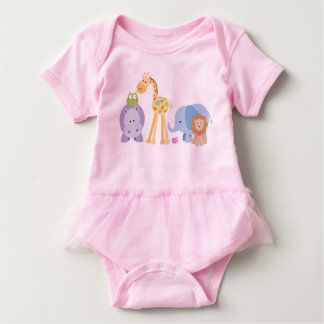 Baby Animals Infant One Piece Body Suit w/Tutu Tees