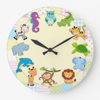 Baby Animals Large Clock