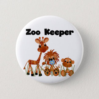 Baby Animals Zoo Keeper Tshirts and Gifts 2 Inch Round Button