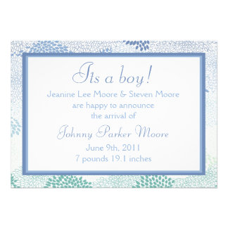 Baby announcement Boy
