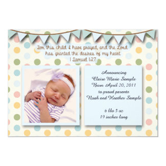 Baby Announcement, Christian Scripture for Boy Card