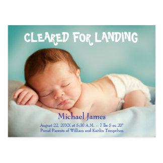 Baby Announcement customizable photo postcard