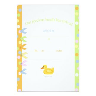 Baby Announcement Rubber Duck Scrapbook design