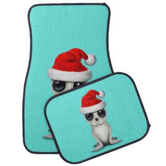 Baby Arctic Seal Wearing a Santa Hat Car Mat