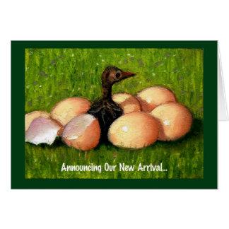BABY ARRIVAL: ARTWORK of BIRDY, EGGS Card