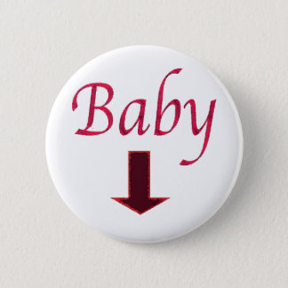 baby.arrow 2 inch round button