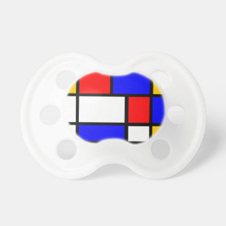 Baby artist: Mondrian style Pacifiers