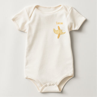Baby Aviator-Yellow Plane Baby Bodysuit