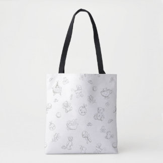 Baby background tote bag