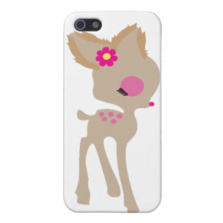 baby Bambi pink flower deer phone case iPhone 5 Cover