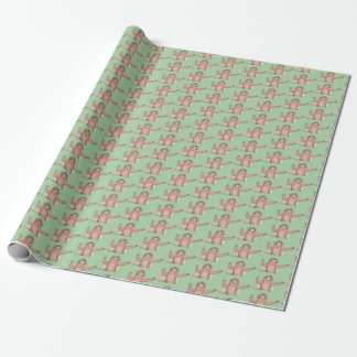 Baby bath funny expression wrapping paper