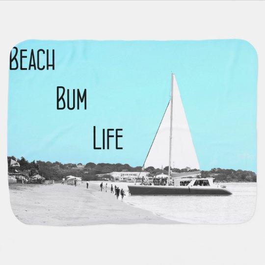 Baby Beach Bum Life Blanket Swaddle Blanket
