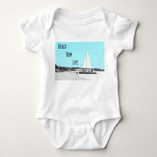 Baby Beach Bum Life Jersey Bodysuit