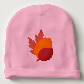 Baby Beanie with Colorful Leaves
