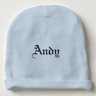 Baby Beanie with Personalized Lettered Name