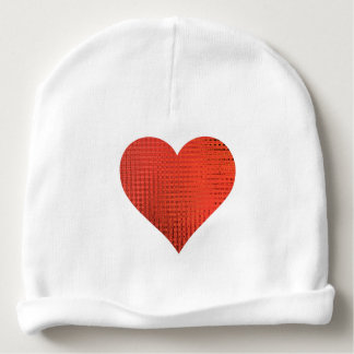 baby beanie with red heart