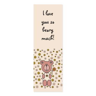 Baby Bear 01 (Bookmark) Business Card Templates