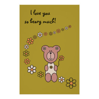 Baby Bear 02 52 x 78 Poster