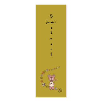 Baby Bear 02 (Bookmark) Business Card Templates