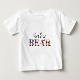 Baby Bear (American Flag) (family set) Baby T-Shirt