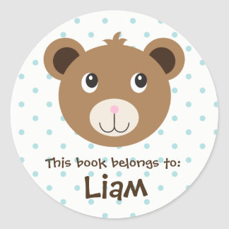 Baby Bear Animal Woodland Face Emoji Book Sticker