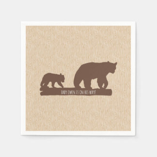 """Baby Bear"" Baby Shower - Personalized Disposable Napkin"