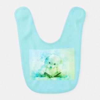 baby bear bedtime story bib aqua