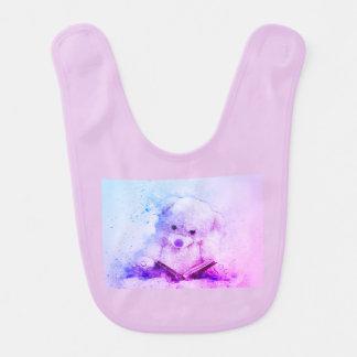 baby bear bedtime story bib pink