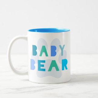 Baby bear - blue Two-Tone coffee mug