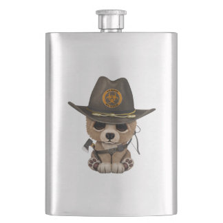 Baby Bear Cub Zombie Hunter Hip Flask