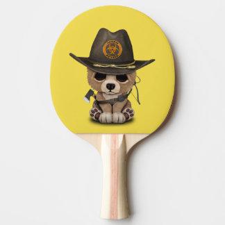 Baby Bear Cub Zombie Hunter Ping Pong Paddle