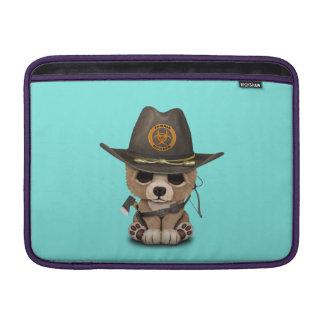 Baby Bear Cub Zombie Hunter Sleeve For MacBook Air