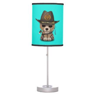 Baby Bear Cub Zombie Hunter Table Lamp