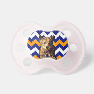 Baby Bear Football Color Chicago Illinois Pacifier