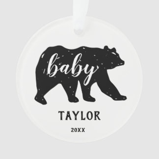 Baby Bear Forest Animal Holiday Ornaments