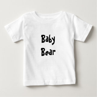 Baby Bear Mother's / Father' Day Gift - Black text Baby T-Shirt