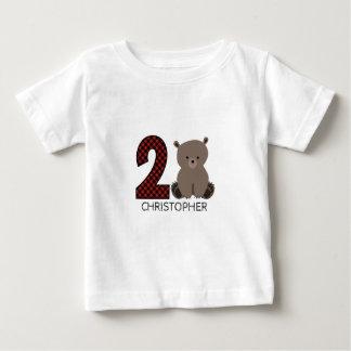 Baby Bear Plaid Second Birthday Shirt