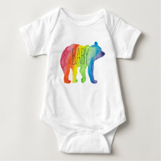 Baby Bear Watercolor Family Pride Bodysuit